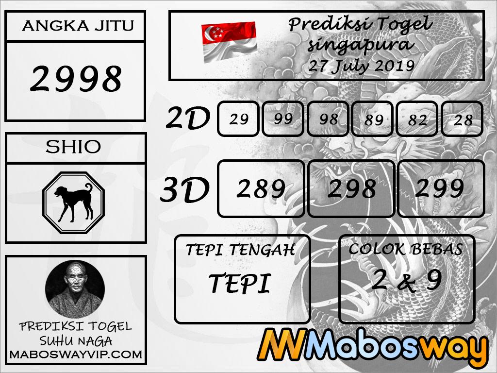 Prediksi Togel Singapura Hari Ini 27 July 2019 - Mabosway
